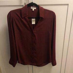 Wine portofino shirt NWT